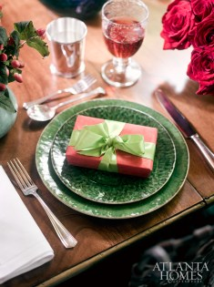 Julep cups from Beverly Bremer, greenware from C.K. Swan and napkins from Fragonard Paris create a visual feast.