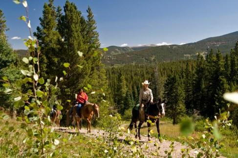 Horseback riding is a popular summer activity