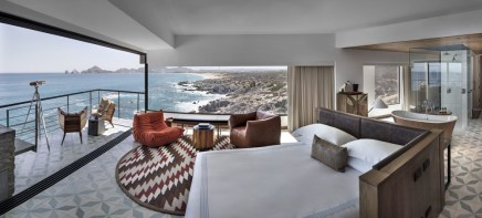 Airy, spacious suites at The Cape are angled to the rugged coast and Land's End.