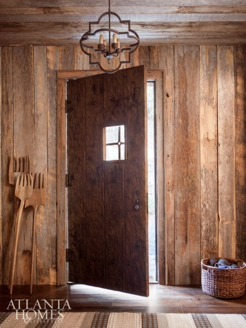 French oak floors and rustic accents add warmth and a feeling of age.