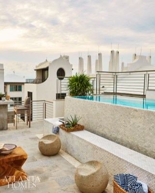 When deciding whether to put the pool on the ground floor or the roof, the impeccable Gulf views offered no contest.