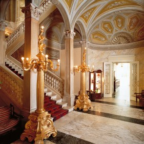 The great marble staircase.