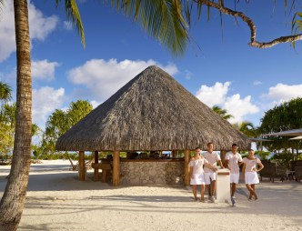 At the all-inclusive luxury resort, the staff caters to their guests' every whim.