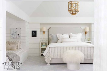 """""""This is a room for guests. It is a suite for those who want a private area separate from the hustle and bustle of the rest of the home."""" —Paige Sumblin Schnell"""