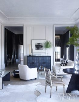 """The interior has the evolved elegance of a Parisian apartment,"" writes McAlpine of designer Betsy Brown's high-contrast interiors."