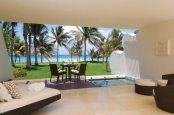 Luxurious beachfront retreats with private plunge pools in the Grand Class suites; Ambassador suites also have private beachfront terraces and balconies, minus the pools