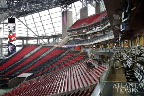 A view of the stadium from the owner's suite.
