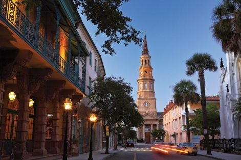 Charleston, South Carolina, is nicknamed the Holy city for its abundance of historic church steeples