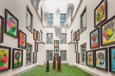 The Grand Bohemian Charleston's atrium showcases a collection of eye-popping artwork.