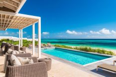 Sailrock's beachfront villas feature private, temperature controlled swimming pools and up-close views of South Caicos' aquamarine waters.