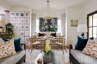 Tish Mills Kirk Tish Interior design / Living and Dining Room