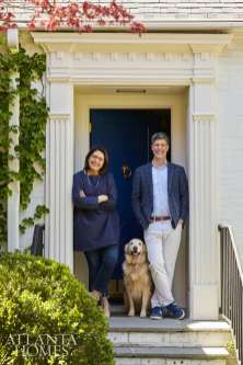 Vivian and John Bencich of Square Feet Studio at their 1939 Druid Hills bungalow.