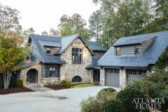 """""""I always think that second homes should be a bit whimsical,"""" says Adams of this recently built lake house."""