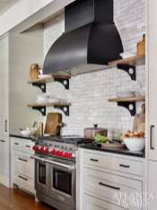 A handmade Moroccan tile backsplash creates a stunning focal point in the kitchen.