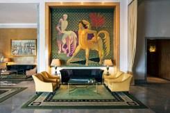 The Four Seasons Hotel Ritz's collection of Portuguese art includes José de Almada Negreiros' Centaur trilogy of Portalegre tapestries.