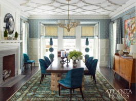 "Howard believes that blue is the most universally treasured of the three primary colors. ""More than any other hue, it can be used to create a variety of lovely shades and tones, from ciel to teal, navy to aqua, slate to powder,"" he says. Photo by Eric Piasecki"