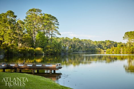 The house sits on Lake Frederica in a golf and boating community, which makes getting on the water a breeze for the passionate fishermen in the family.