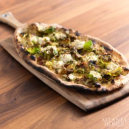 Brussels sprouts flatbread.