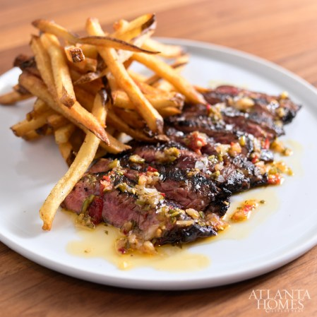 Wood-grilled skirt steak.