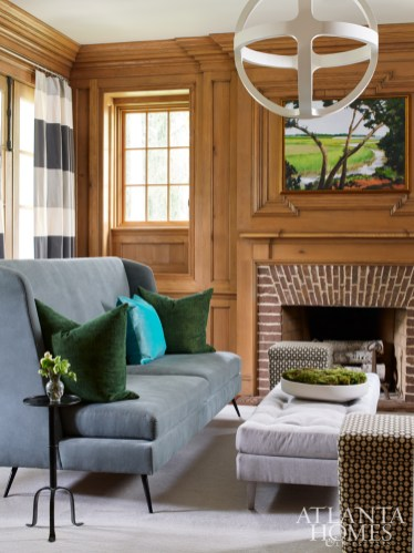 Douglass tempered the traditional paneling of the study with more modern selections from South of Market.