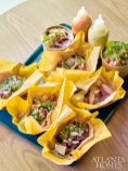 Tacos with handmade tortillas.