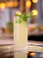 Vietnamese mule with house-made ginger syrup and fresh cilantro.