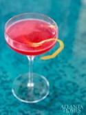 Bird of Prey with Charbay vodka, cranberry and thyme.