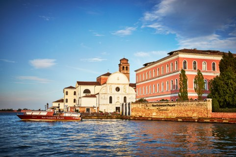 Venice's five-star hotel, San Clemente Palace Kempinski, sits on its own private island.