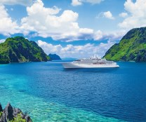 Crystal Endeavor perched in a cove of El Nido, Palawan, Philippines.