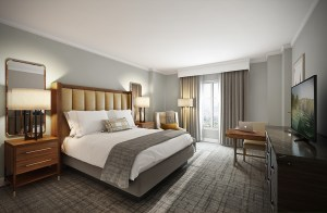 The freshly renovated rooms feature modern embellishments.