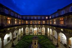 Courtyard of Parador Santiago de Compostela.
