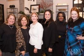 Miriam Wagner Griffin of Atlanta Homes & Lifestyles, Theresa Druckenmiller of TD Interiors, Ann Wisniewski, Calais McGuinness of Panoramic Doors, MacKenzie Johnson of ADAC and Tasha Norland of AmericasMart