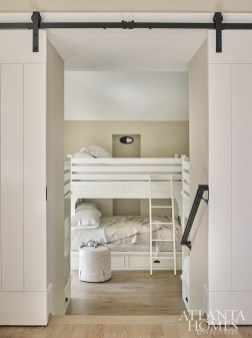 The bunk room was built out by builder David Childers of Macallan Custom Homes and Renovations.