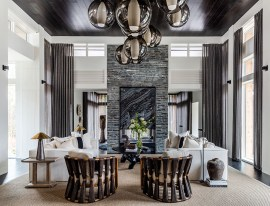 "NEW CONSTRUCTION– Residence Over 7,000 SF SILVER ""Brookhaven Balinese"" ■ Joel Kelly Design & Wyeth Ray Interiors, Joel Kelly, Allied ASID; Whitney Ray, Allied ASID; Anthony Stavely; Bridget Lowrey"