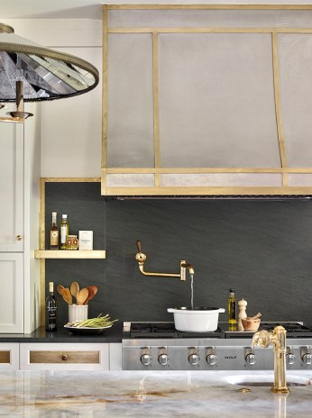 "RENOVATION–Kitchen SILVER ""Traditional with a Twist"" ■ Harrison Design Karen Ferguson, ASID; Laura Hermes, Associate ASID"