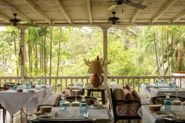 The veranda at The Cotton House.