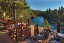 Dining on the banks of the legendary Blackfoot River.