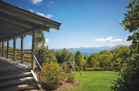 Porch views overlooking the Blue Ridge mountains.