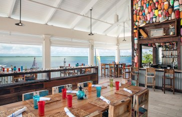 Beach views wow at on-property restaurant Sol by the Sea.