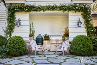 The design team intentionally created multiple gathering spaces throughout the home—both inside and out.