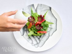 Atlas salad with Kalera greens, avocado and mustard vinaigrette.