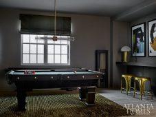basement game room pool table