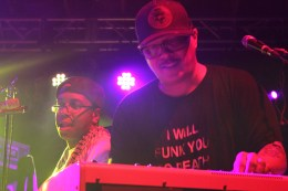 Funk Jam - Ivan Neville (Dumpstaphunk) & Nigal Hall (Lettuce) - Photo by Chris Horton