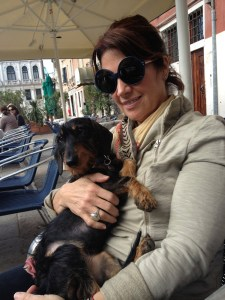 Vivi, seen here with Annette, lives the good life in Italy