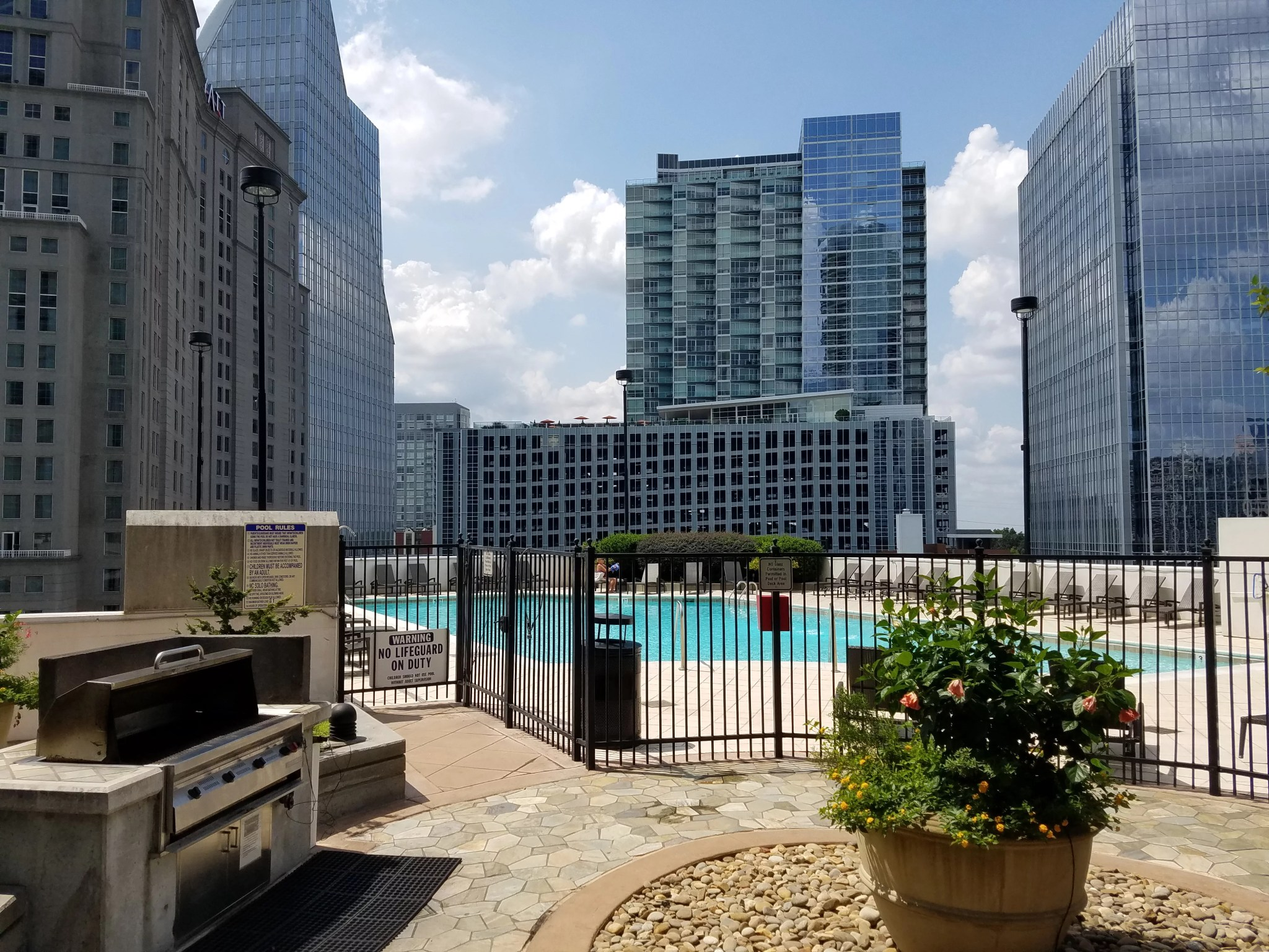 The Realm in Buckhead Outside Common Area grill and pool