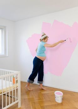 decorating a nursery painting
