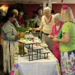Buffet line at Island Themed Beach Party for Seniors