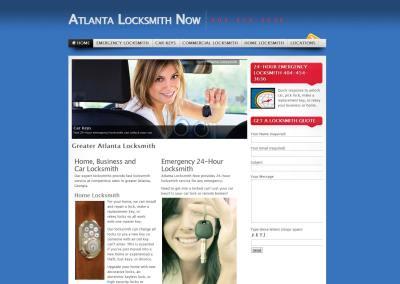 Atlanta Locksmith Website Design