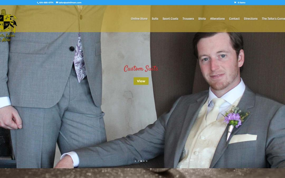 Atlanta Tailor St. Marc Website Design