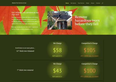Atlanta Tree Service Website Design
